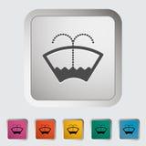 Car icon wiper. Stock Photos