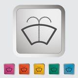 Car icon wiper. Vector illustration Stock Photos