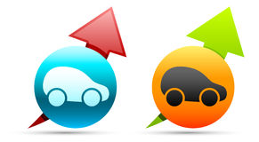 Car icons Royalty Free Stock Image