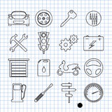 Car icons. Vector illustration icons on cars Stock Photo