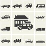 Car icons. Cars icons set. different vector car forms stock illustration