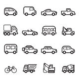Car icons  Collection set Royalty Free Stock Images