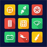 Car Icons Flat Design Royalty Free Stock Images