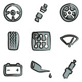 Car Icons Freehand 2 Color Royalty Free Stock Images