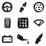 Car Icons Freehand Fill Royalty Free Stock Photos