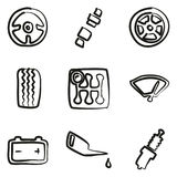 Car Icons Freehand Royalty Free Stock Photography