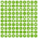 100 car icons hexagon green. 100 car icons set in green hexagon isolated vector illustration vector illustration