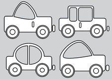 Car icons isolated on gray Stock Photo