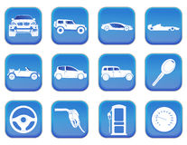 Car icons 2 Stock Images