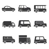 Car icons Royalty Free Stock Photos