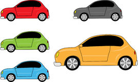 Car icons set Stock Photography