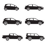Car icons set. Royalty Free Stock Photo