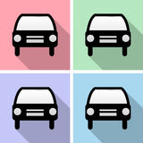 Car icons set great for any use. Vector EPS10. Stock Photos