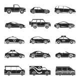 Car icons set Stock Image