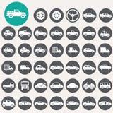 Car icons set. Royalty Free Stock Image