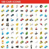 100 car icons set, isometric 3d style. 100 car icons set in isometric 3d style for any design illustration stock illustration