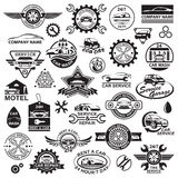Car icons set Stock Photography