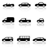 Car icons set. (Vector illustration Royalty Free Stock Image