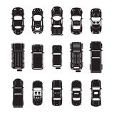 Car icons top view.  Royalty Free Stock Photo
