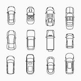 Car icons top view Royalty Free Stock Photo
