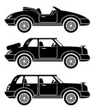 Car icons. Royalty Free Stock Photos