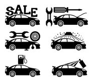 Car icons. Stock Image