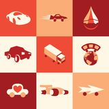 Car icons vector set Royalty Free Stock Photography