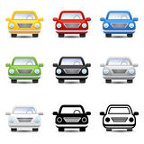 Car icons. Vector car icons sport road driver Royalty Free Stock Images
