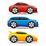 Car icons on a white background. Vector set of car icons on a white background Stock Illustration