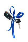 Car ignition key. With security system, isolated on white Stock Images