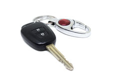 Car ignition key with remote. On white background Stock Photo