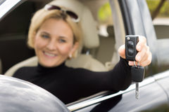 Car ignition key and remote control stock image