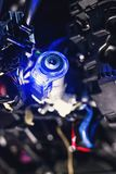 Car ignition lock with shallow depth of field Stock Photography