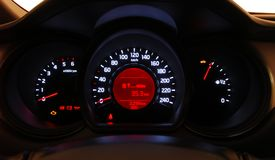Car illuminated dashboard Royalty Free Stock Image