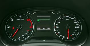 Car illuminated dashboard Stock Image