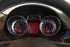 Car illuminated dashboard Royalty Free Stock Images