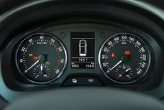 Car illuminated dashboard Royalty Free Stock Photo