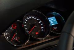Car illuminated dashboard Stock Images