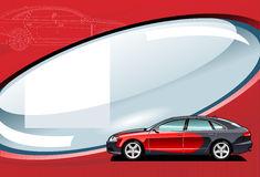 Car -  illustration. Stock Image