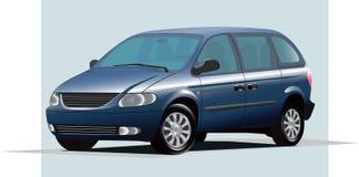 Car illustration. Minivan family car realistic illustration Stock Photos