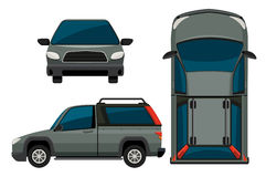 Car. Illustration of a pickup truck in different view Royalty Free Stock Images