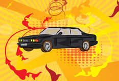 Car illustration. Vector illustration of a kid painted car Stock Images
