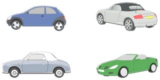 Car illustrations Royalty Free Stock Image