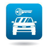 Car from impound yard icon, simple style Stock Images