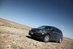 Car In Desert Stock Photo