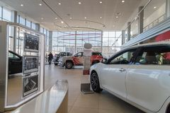 Free Car In Showroom Of Dealership Toyota In Nizhny Novgorodcity In 2018 Stock Image - 128208641