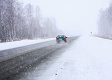 Free Car In Winter On Way Stock Photos - 24362183