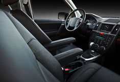 Car inerior (black) Stock Photo