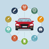 Car infographic Royalty Free Stock Photography