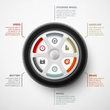 Car Infographic Royalty Free Stock Images